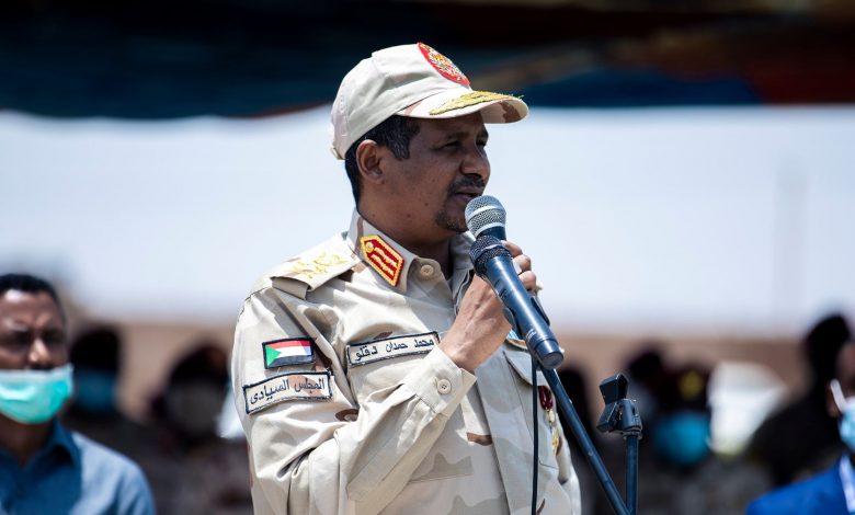 صورة السودان: دقلو: لن نسمح لفئة صغيرة بالتسلط على السودان ولا بأي انقلابات